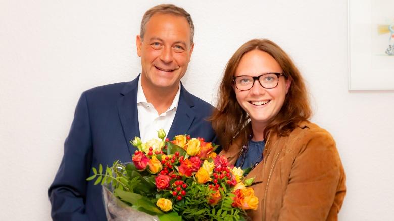 Dirk Pohlscheidt mit Katharina Gebauer